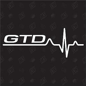 speedwerk-motorwear GTD Herzschlag - Sticker für VW