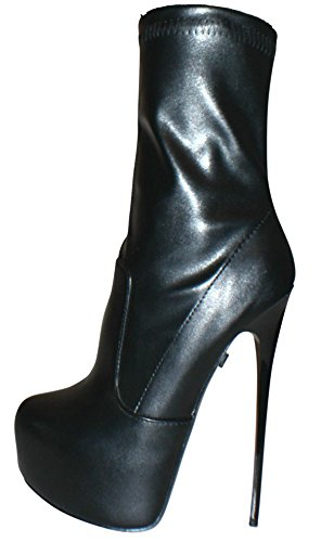 Erogance piel sintética Plateau High Heels Botines a5738/EU 37–46