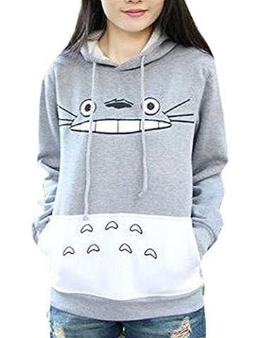 Sweat Totoro - La Cabina Femme T-Shirt Sweat-shirt à Capuche