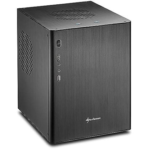 Sharkoon CA-M - Caja de ordenador (Mini-Tower, PC, Aluminio, Fondo, 1x 120 mm, Micro-ATX, Mini-ITX)