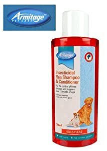 (Armitage Pet Care) Insecticidal Flea Shampoo & Conditioner for Dogs 250ml [34100] by Armitage