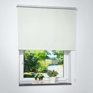 verdunkelungsrollo creme 80x160 breite x h he in cm thermorollo verdunklungsrollo. Black Bedroom Furniture Sets. Home Design Ideas