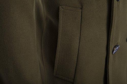 Veravant manteau printemps pour homme slim coat manches longues Vert