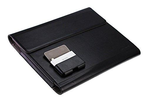 Broonel London Prestige schwarzes premium Fall Abdeckung Trage Tasche Folio speziell fr Porsche type TX7 2 in 1 Aktentaschen