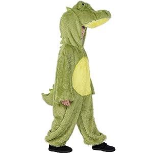 Smiffy's - Costume per travestimento da coccodrillo, con cappuccio, Adulto, taglia: S