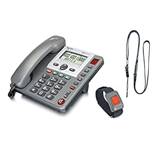 Amplicomms PowerTel 97 Alarm Big Button Telephone + Remote Pendant