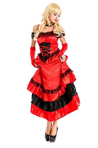 Adult Ladies Red Spanish Senorita Flamenco Costume Size 10