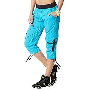 zumba fitness damen hose capri pants sport freizeit. Black Bedroom Furniture Sets. Home Design Ideas