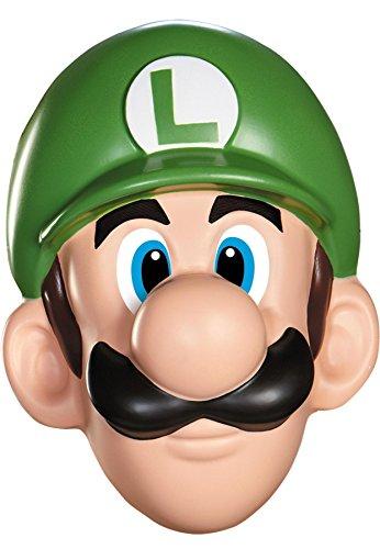 Unbekannt Super Mario 13384-Maske Luigi für Erwachsene, grün, - Luigi Für Erwachsene Kostüm Maske