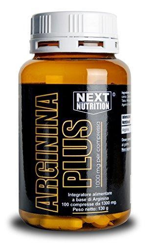 Arginina 1000 mg | 100 compresse 130 gr Amminoacido Essenziale Incrementa la Crescita Muscolare e la Forza Alza i Livelli di Ossido Nitrico | Favorisce la Sintesi delle Proteine | Vigore Sessuale