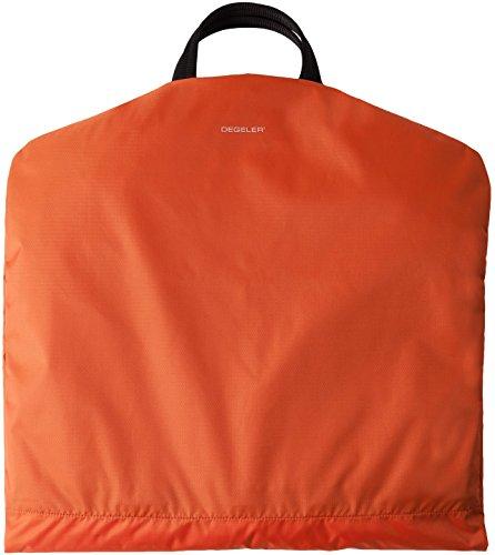 Business Kleidersack für Anzüge - Kleiderschutz-Hülle faltbar & wasserabweisend - optimal für Flugzeug-Reisen nur mit Handgepäck - SkyHanger DEGELER Anzugtasche & Business-Tasche für Herren, orange, 54cm x 52cm x 4cm