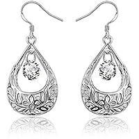 Pendientes de plata con diseño de AmberMa, joyería básica, joyería para mujer, regalo de cumpleaños para niñas, amigas, dama de honor