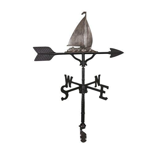Montague Metal Products Wetterfahne mit schwedischem Segelboot, 81 cm (Wetterfahne Nautische)