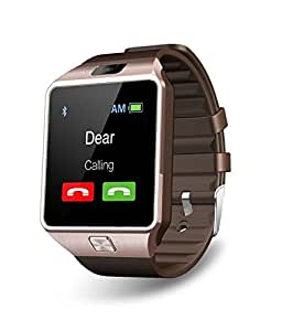 T30 Bluetooth Smart Watch with Sim Card Slot and Camera - (Brown, Silver, Golden)