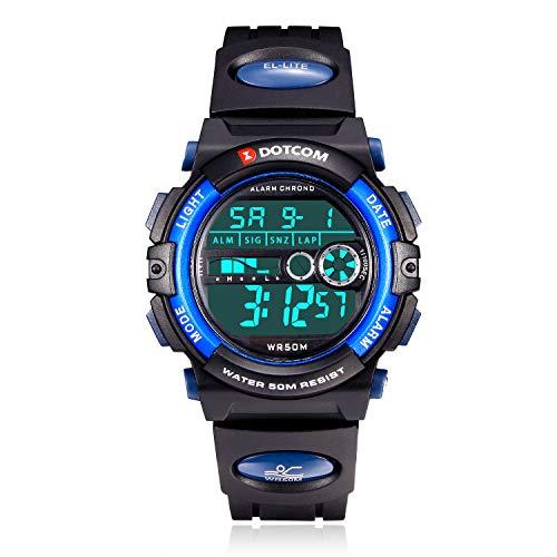 Kinderuhr Junge Digitaluhren Mädchen, 50M Wasserdicht Kinderuhren Jugendliche Sportuhren mit Alarm/Timer/LED Licht Armbanduhr Kinder Junge