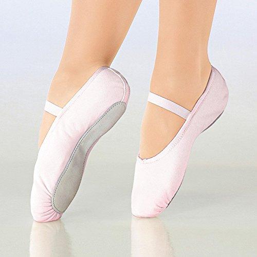 So Danca Kinder Ballettschläppchen Leinen, Weite M Black