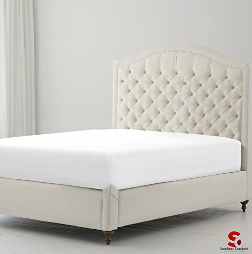 sunshine-comfortr-percale-cotton-rich-180-thread-count-non-iron-deep-fitted-bed-sheets-double-white