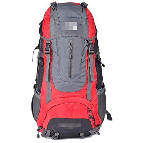 Outdoor Bergsteigen Rucksack Mit Regenhülle,Black Red