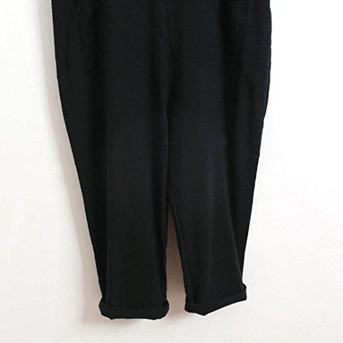 Salopette Femme, Xjp Hot Coton Casual Pantalon de Ceinture Ample Harem Pantalon Combinaison Overall Pants 3 Couleurs Noir
