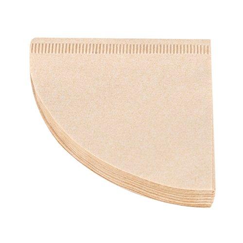 40 Stücke Ungebleichte Natürliche Kegel Einweg Form Tropf Kaffeetasse Einweg Filterpapiere(V01)