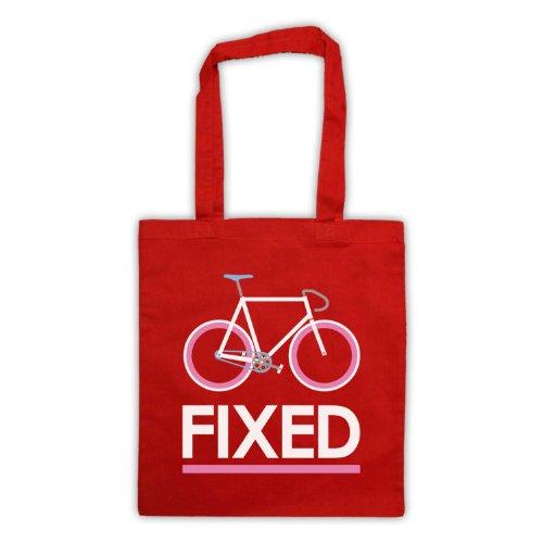Fixed Gear-Borsa per bicicletta, in stile retrò Rosso