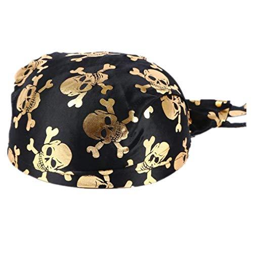 Rosennie Halloween Kopftuch Bandana Beanie Mütze Sommer Strand Turban Kopfbedeckungen Mode Drucken Bandana Mütze Schiffskapitän Party Spielzeug für Halloween Kleid Magic ()