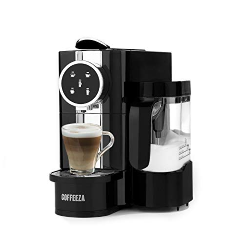 Coffeeza Lattisso Coffee Making Machine, Premium Cappuccino & Espresso Maker Machine with Milk Frother, Nespresso Capsule Pod Compatible, 19Bar Pressure, 1Year Warranty on All Machines, for Home Use