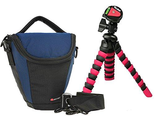 Foto Kamera Tasche DELSEY Set mit Reisestativ für Canon EOS 1300D 750D 600D 100D und andere