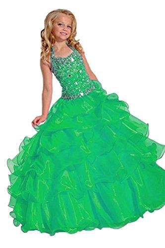 Aurora dresses Mädchen Blumenmädchen Kleider Partyskleid Kinderkleid Kommunionkleid Tutu Kleid...
