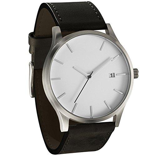LongraReloj de Moda para Hombre, Popular de bajo Nivel de Lujo Militar de Cuarzo Deportivo Reloj de dial de Pulsera (B, A)