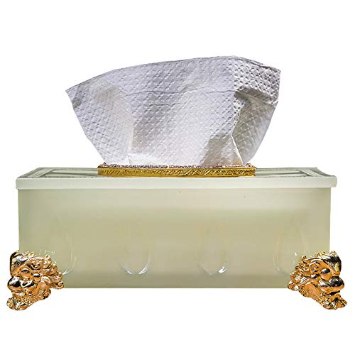 LIUQIAN Schreibtisch Dekor Handwerk Dekoration Papier Pumping Feld nach Hause Papier Handtuch Box Schlafzimmer in Ihrem Zimmer zu Hause einfache Couchtisch Glas Speisewagen Tonne 10.0 * 5,7 * 5.1