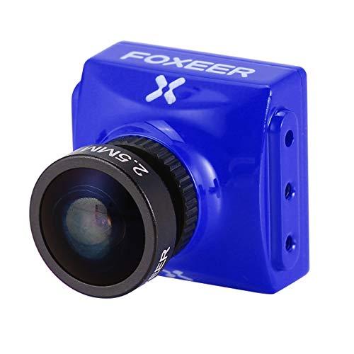 LasVogos Foxeer Falkor FPV Kamera 1.8 / 2.5mm 1200TVL 1/3 CMOS 4: 3/16: 9 PAL / NTSC Schaltbare G-WDR OSD Für RC Racing Drone (blau) Cmos 2,5