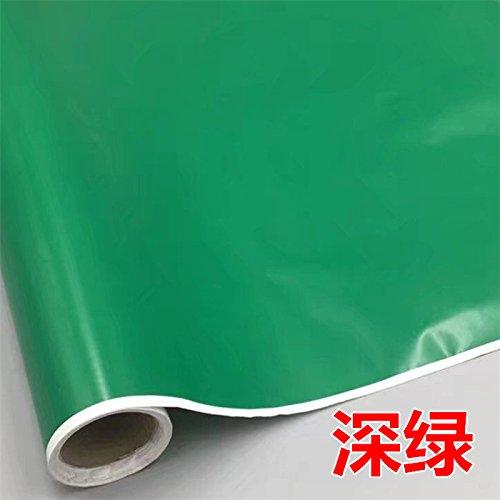 ZCHENG 45 W PVC-selbstklebe Tapete Tapete Plain Farbe, Beschriftung Aufkleber Farbe klebende Oberfläche auf einer Rolle 5 M Cm, helle Gelb, 546874