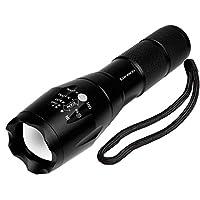Laneco A100 Taktische Taschenlampe mit Hochleistung - Superhelle LED Handgerät-Taschenlampe - Tragbare Wasserdichte Taschenlampe im Freien mit Einstellbarem Fokus und 5 Leuchtungsmodi für Campen Wandern usw.