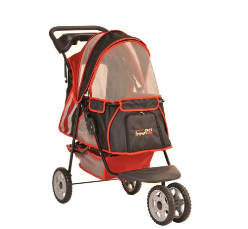 InnoPet® Hundebuggy All Terrain Hundewagen Pet Stroller Jogger Jogging Buggy red/black Bis 12,5 KG