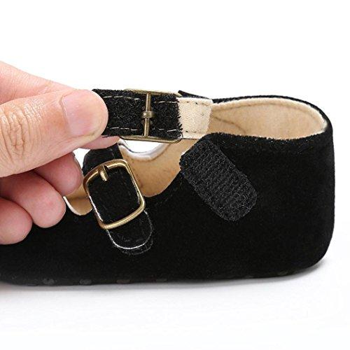 Igemy 1Paar Baby Schuhe Jungen Mädchen Neugeborene Krippe Soft Sole Schuh Sneakers Schwarz