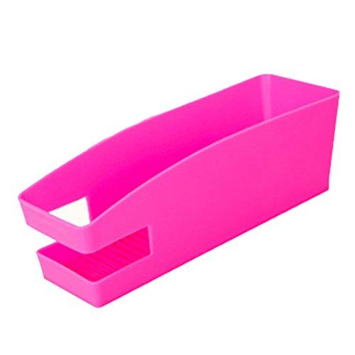 OUNONA Kunststoff Schuh Aufbewahrungsbox mit gezackten Platte für Schuhe / Controller / Shampoo (Rosy) (Platte-aufbewahrungsbox)