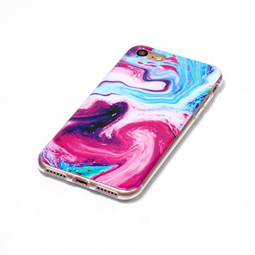Pour Apple IPhone 6 6s Case Marbling Texture Soft TPU Cover Slim Ultra Thin Anti-Scratch Shock Absorption Protective Back Cover Shell ( Color : M ) Q