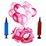 SIMUER 300PCS Globos mágicos de látex con Bomba Bodas Cumpleaños Payasos Decoraciones para Fiestas Blanco Rosa Rojo