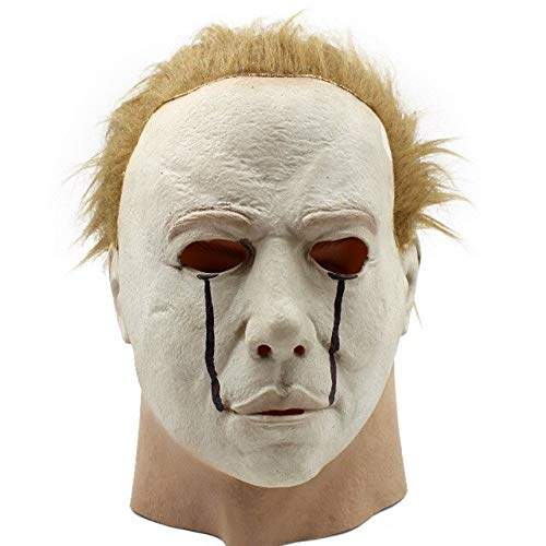 WasJmu 1  Hot Movie Cos Mask Horror Michael Myers Mask Scary Movie Halloween Cosplay Adult Latex Party Face Mask Scary Film Mask Toy,as The Picture