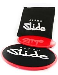 Discos de entrenamiento Alpha Slide Core Sliders, con bolsa de transporte, para todos los