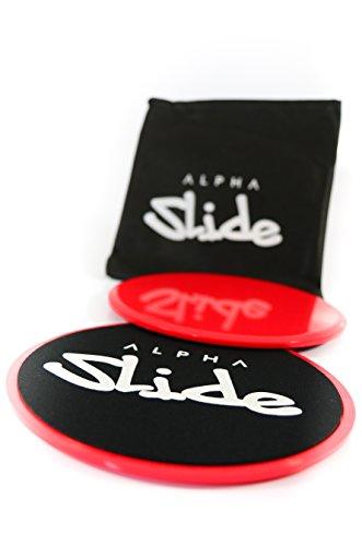 ALPHA SLIDE Core Sliders - Gratis Tragebeutel - Geld-Zurück-Garantie - Für alle Böden - Zur Stärkung der Core-Muskulatur, Rumpfmuskulatur - Workout Fitness Home Core Slide Gleitscheiben