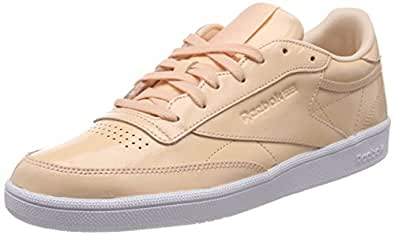 Reebok Women's Club C 85 Patent Desert Tennis Shoes-5 UK/India (38 EU) (BS9778-DESERT DUST/White-5)