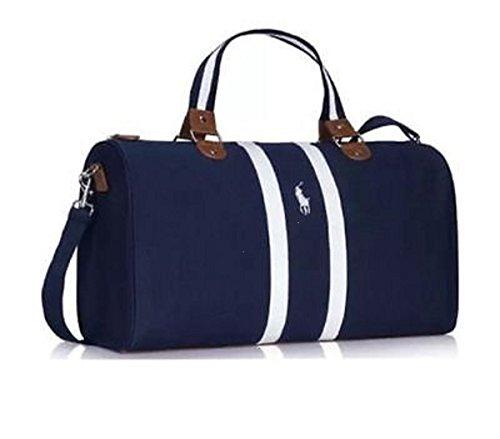 Ralph Lauren World Of Polo Borsone per palestra e viaggi nel fine settimana, colore blu oltremare scuro