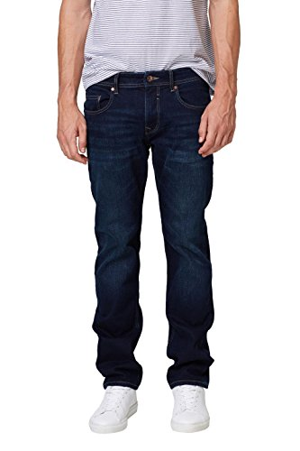 Dark Wash Blue Jean (ESPRIT Herren 998EE2B808 Straight Jeans, Blau (Blue Dark Wash 901), W34/L34)
