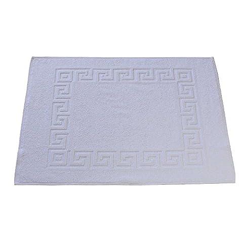 Serviettes/Serviettes de douche Kit dans Premium Hôtel de Qualiät. Blanc. Lavable à 95°C. Poids 500g/m². éponge moelleuse en 100% coton. absorbant et acier. Différentes tailles, Lot de 3, Weiß, Vorleger 50x70 cm