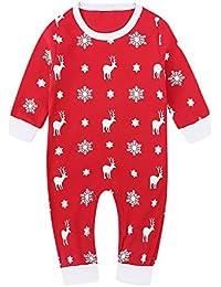 Ansenesna Baby Weihnachten Strampler Kostüm Junge Mädchen Elch Cartoon Baumwolle Elegant Weihnachts Kleidung