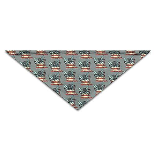 Gorgeous Socks Süße Katze Brille amerikanische Flagge Polyesterfaser 100% Haustier Schals Zubehör einstellbar für alle Größen Hunde Katzen Haustiere