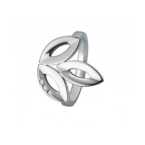 XEN Ring Blüte mit 3 Brillanten 0,015 ct. poliert 56 (17.8)