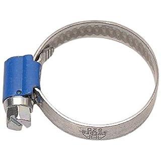 Aparoli Original ABA 841490 Hose Clamp 32-50 mm with Worm Gear Thickness 9 mm Pack of 10 Blue